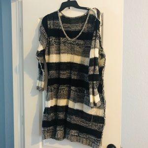 Adorable sweater dress !